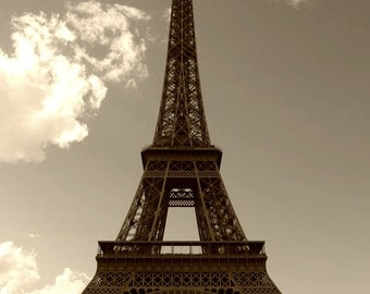 EIFFEL Tower Paris Sepia Image JPEG Download Photography