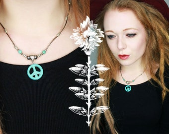 Turquoise Peace Necklace