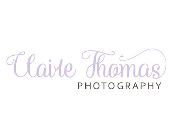 Logo and Watermark  - Handwritten Calligraphy Script - Professional Photography Logo Design - Watermark - Premade Logo Design - PL15