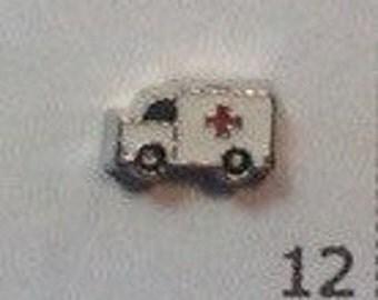 MEDICAL ambulance Floating charm
