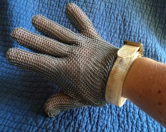 Vintage Stainless Steel Mesh Butcher Glove/Cooking Gift