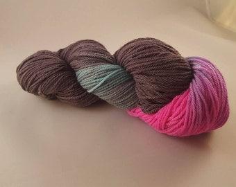 Hand dyed Merino yarn, DK weight, 100g, MIDNIGHT UNICORN