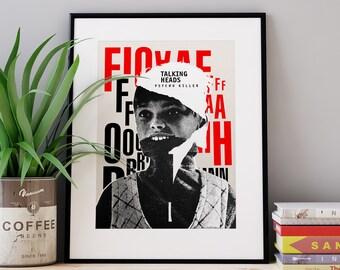Talking Heads / screenprint poster