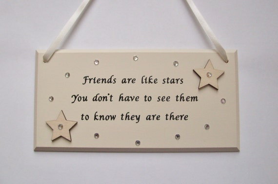 Friend Quote Plaque : Best friends gift friendship plaque special by