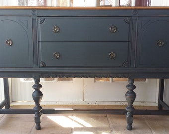 ON HOLD - Hand Painted Antique Shabby Chic Buffet / Sideboard - local pickup/delivery only