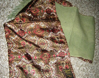 60's Wool and Tricel Paisley Scarf by Duggie