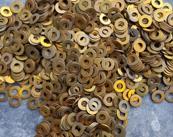 Old Brass Washers,5/16 Diameter 50 Count