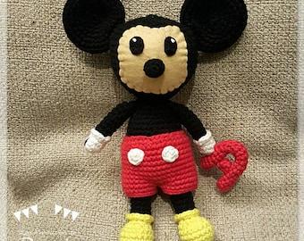 Mickey Mouse Baby Amigurumi : Stuffed mouse Etsy