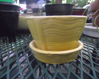 Yellow McCoy Pottery Planter