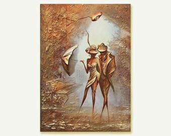 Original Oil Canvas Art Painting Gold Leaf Painting Impasto painting Original Art Painting Oil Gold Canvas Painting original Gold  painting
