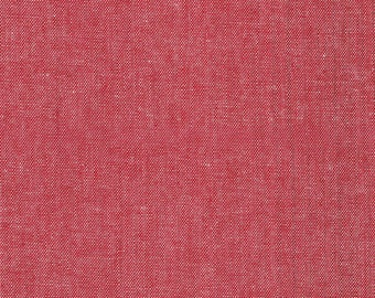 1/2 Yard Outland Yarn Dyes Denim Studio Art Gallery Fabric- Denim-S-6002 Cherry Crimson