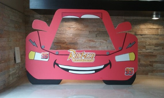 Disney Cars Photo Booth Frame Ray Mcqueen By