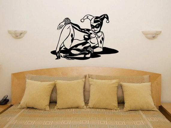 Harley quinn villain batman joker kitchen bedroom wall art for Harley quinn bedroom designs