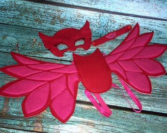 Owlette Costume Owlette PJ Masks Wings, Mask & Wristband Set Costume Dress Up
