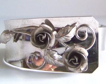 1950s-60s Sterling Silver Bond Boyd Rose Bracelet 1950s-60s