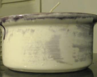 Oval soy wax Candle ceramic re use able
