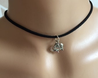 Elephant Faux Suede Choker Choose from 6 Colours