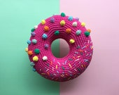 Princess Bubblegum crochet donut cushion