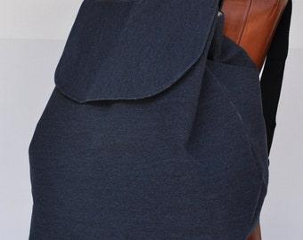 Marine blue bag canvas  back , handmake canvas back pakc, school bag, trabel bag pack, shopping backpack,sport back pack,  schoulder bag