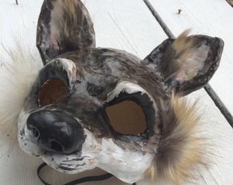 Wolf mask/ Paper mache mask/papier mache mask