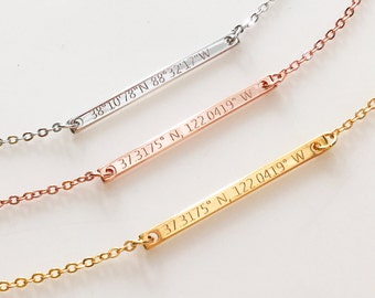 Dainty custom Necklace Personalized Necklace, custom bar necklace, Personalized women, Personalized jewelry personalized gifts