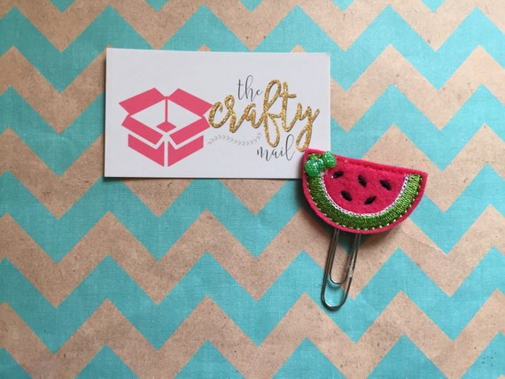 Watermelon Slice Paper Clip/planner clip/feltie/planner supplies. Choose with or without bow
