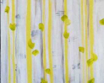 "24"" x 48"" Acrylic Painting on Canvas 'Birch Trees'"