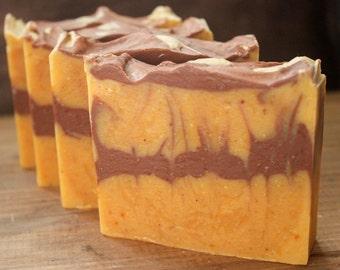 Sunflower - handcrafted artisan soap - hemp milk - cold processed bar soap