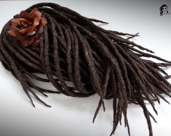 "Wool Dreadlocks Dreads "" Hot Chocolate "" DE"