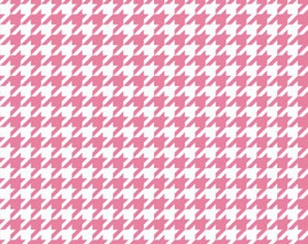 CLEARANCE PRICE Riley Blake Knits, Hot Pink Houndstooth, K970-70, 58/59 inches wide
