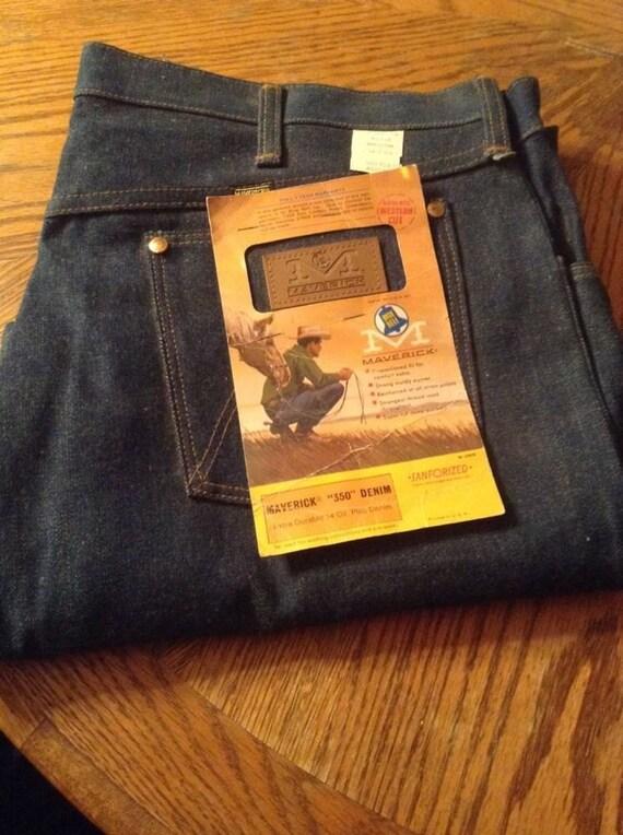 1970's Vintage Maverick Blue Bell Jeans Size 40 x 30