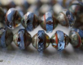 Saphire Bliss, Saucer Beads, Czech Beads, N1742