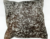 Cowhide Leather Cushion Cover
