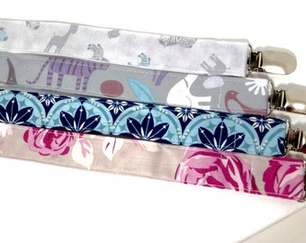 Pacifier Clips- PICK 4- Choose your Fabric