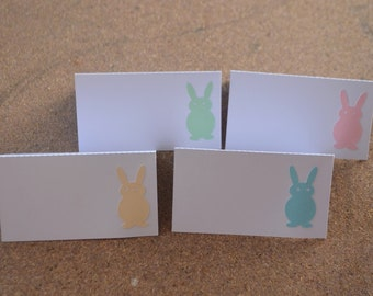 Set of 8 Bunny Place cards, Baby Shower Place cards, First Birthday Place Cards