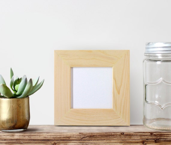 5x5x2 wide picture frame glass and by cheekysheepwoodshop