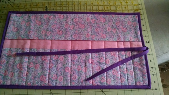 Quilted Knitting Needle Case Organizer for Double Point
