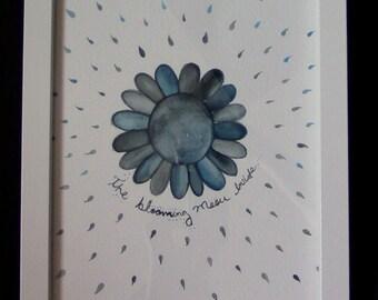 "Water-colou  Original art  ""The blooming Moon Inside"""
