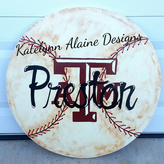 Etsy Personalized Wall Decor : Items similar to quot personalized a m baseball wall decor