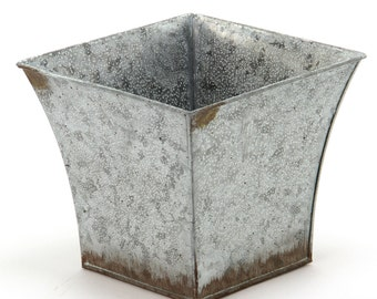 Galvanised Zinc Planter. Plant pot - 24260