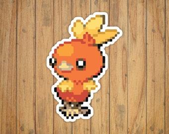 8-Bit Torchic Pokemon Decal/Sticker