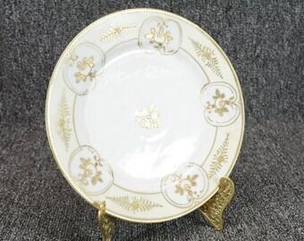 """Vintage Nippon 7.5"""" Hand Painted Salad Plate"""
