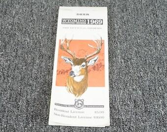 Deer Wyoming Hunting Orders 1969 Official Orders