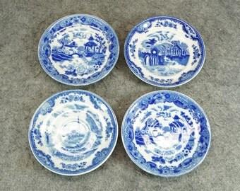 Maruta China 4 x Blue Porcelain Saucers