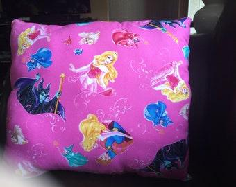 Sleeping beauty cast pillow