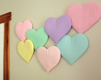 Pastel Heart Flow Wall Hanging