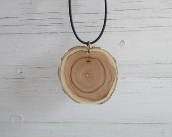 Lilac Necklace, Wooden Necklace, Wooden Pendant, Eco Necklace, Wooden Jewelry, Nature Lover