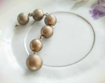 Rustic Gold Round Beads Vintage Recycle Salvage