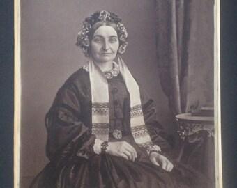 Large Albumen Print of Victorian Woman