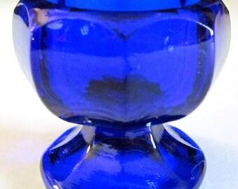 Paneled Pedestal (Cobalt Blue)